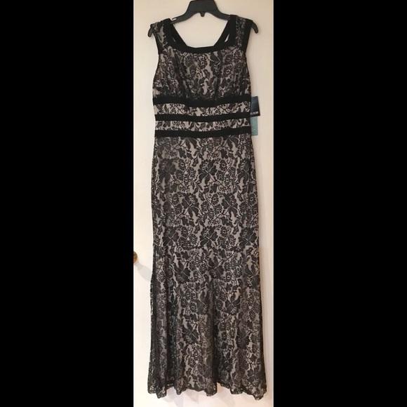Jcpenney Dresses Black Lace Evening Dress Poshmark